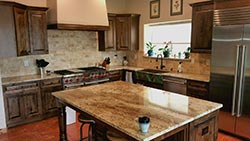 Tuscan Style kitchen with custom copper sink new mexico - NM NM