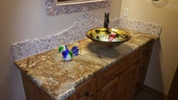 numerous selection of stone for your vanity remodel needs - NM NM